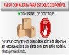 Aviso de Estoque Disponível - Modal ou Alerta Personalizado - com Opção de Som nos Alertas.